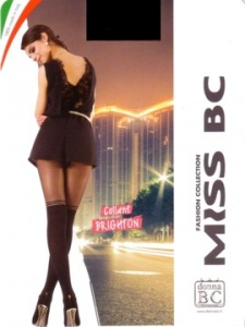 Woman pantyhose with Parisian effect